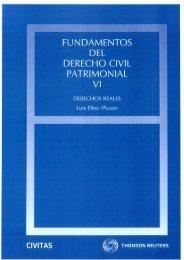 FUNDAMENTOS DEL DERECHO CIVIL PATRIMONIAL VI