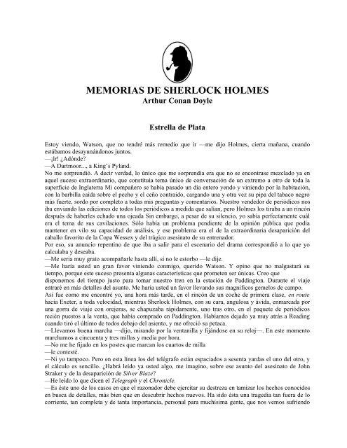c7c411090 Las memorias de Sherlock Holmes - El Pentagrama