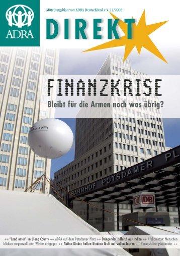SPENDEN- KONTO: DRESDNER BANK, DARMSTADT KT. - Adra