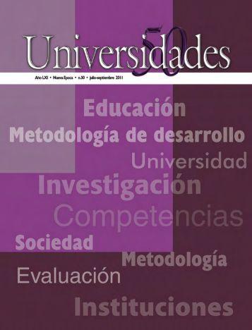 Revista Universidades Número 50, Julio - udual