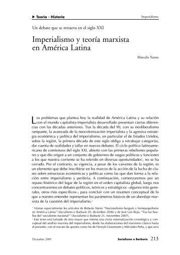 Imperialismo y teoría marxista en América Latina - Socialismo o ...