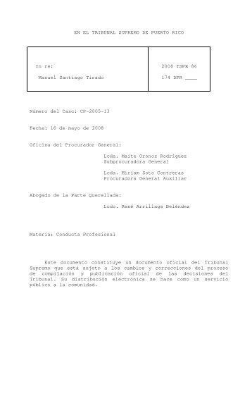 2008 TSPR 86 - Rama Judicial de Puerto Rico