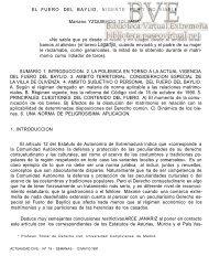 El Fuero del Baylío, vigente pero no viable - Paseo Virtual por ...
