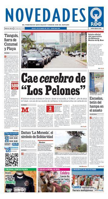 """Cae cerebro de """"Los Pelones"""" - Novedades de Quintana Roo"""