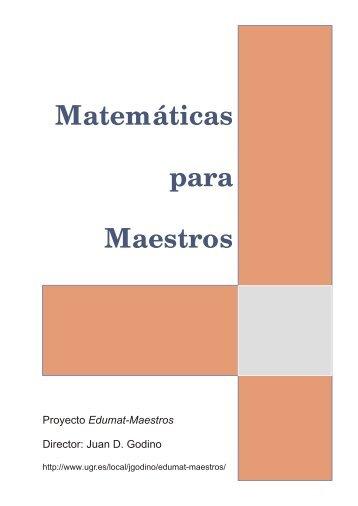 Matemáticas para Maestros