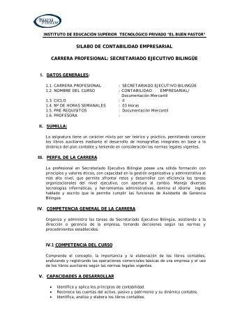 SILABO DE CONTABILIDAD EMPRESARIAL ... - IST Buen Pastor