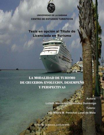LA MODALIDAD DE TURISMO DE CRUCEROS ... - Monografias.com