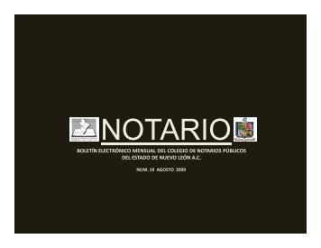 agosto 2009 - Colegio de Notarios Públicos del Estado de Nuevo ...