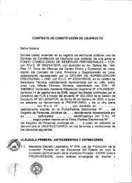 CONTRATO DE CONSTITUCIÓN DE USUFRUCTO - Proinversión