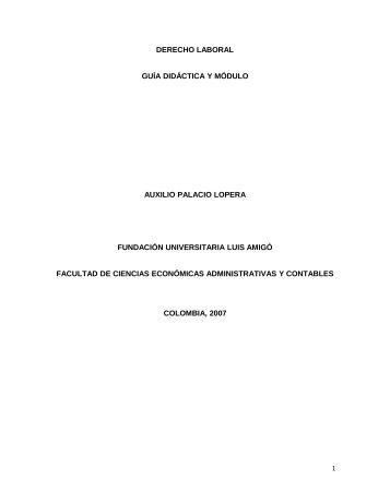 derecho laboral-módulo - Fundación Universitaria Luis Amigó