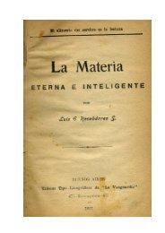 La Materia Eterna e Inteligente - Luis Emilio Recabarren