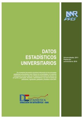 Resumen de Datos Estadísticos - II Censo Nacional Universitario