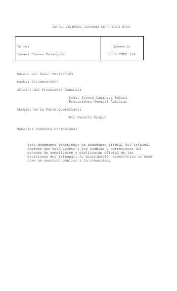 124 - Rama Judicial de Puerto Rico