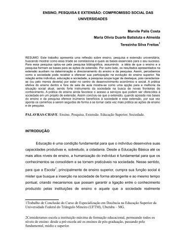 ENSINO, PESQUISA E EXTENSÃO: COMPROMISSO ... - UFTM