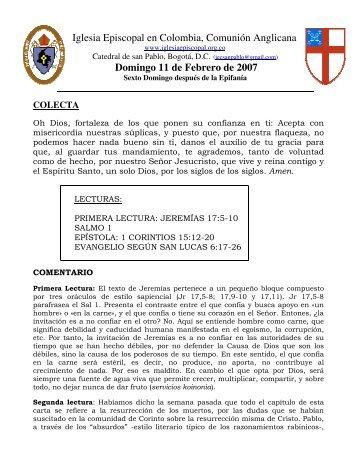 HOMILIA 11-02-2007.pdf - Iglesia Episcopal en Colombia