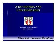 A OUVIDORIA NAS UNIVERSIDADES - Ouvidoria / UNICAMP
