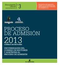 universidades del consejo de rectores y adscritas al ... - Demre