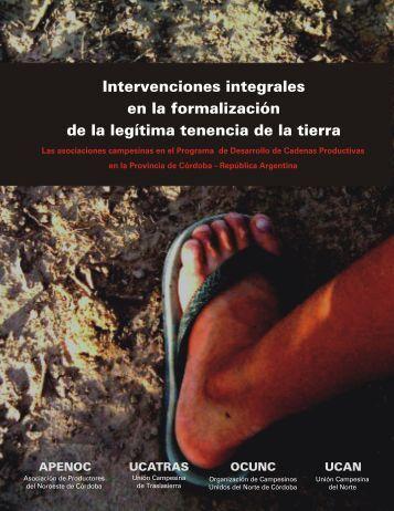 Intervenciones integrales en la formalización de la legítima tenencia ...