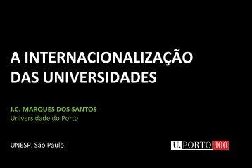 A INTERNACIONALIZAÇÃO DAS UNIVERSIDADES - Unesp