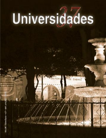 Revista Universidades Número 37, Abril-Junio de 2008 - udual
