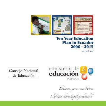 Ten Year Education Plan in Ecuador 2006 - Unesco