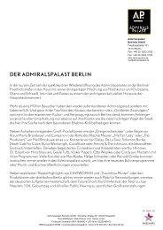 DER ADMIRALSPALAST BERLIN