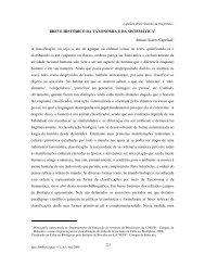 Breve histórico da Taxonomia e da sistemática - Instituto de ...