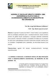 Agenda XXI escolar viriato corrêa: UMA ESTRATÉGIA piloto PARA