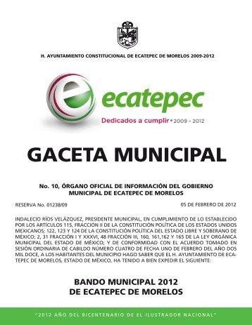 Bando Municipal Ecatepec de Morelos - H. Ayuntamiento de ...