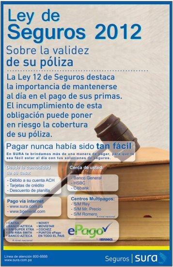 Seguros 2012 - Sura.com.pa