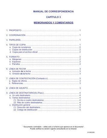 manual de correspondencia capítulo 3 ... - Canal de Panamá