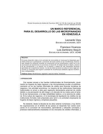 un marco referencial para el desarrollo de las ... - SICHT