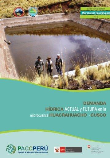 HÍDRICA ACTUAL y FUTURA en la - pacc