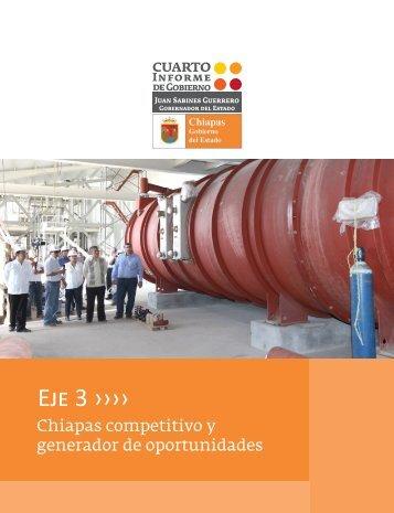 Eje 3: Chiapas competitivo y generador de oportunidades