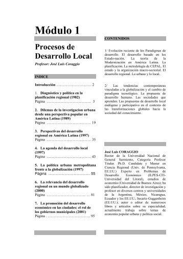 Módulo 1 - Portal de Desarrollo Humano Local