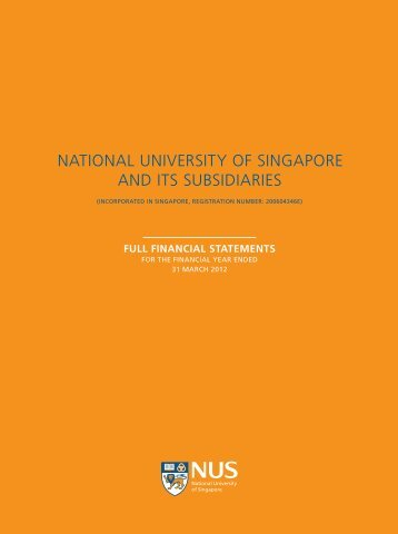 NATIONAL UNIVERSITY OF SINGAPORE AND ITS SUBSIDIARIES