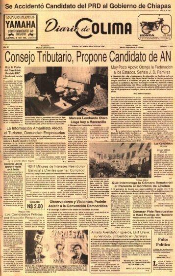 los candidatos - Universidad de Colima