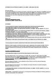Informativo nº 02 – abril e maio - Associação Brasileira de Educação ...