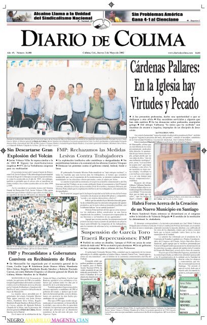 NEGRO AMARILLO MAGENTA CIAN FMP - Universidad de Colima