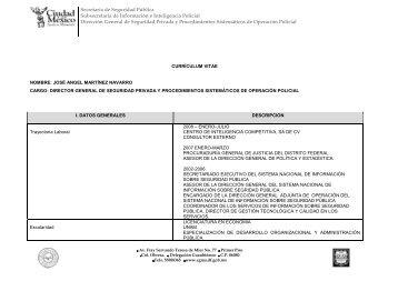 Secretaría de Seguridad Pública Subsecretaría de Información e ...