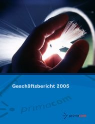 PrimaCom - Geschäftsbericht 2005