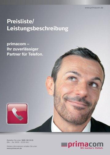 Telefon Preisliste 1109 - Primacom