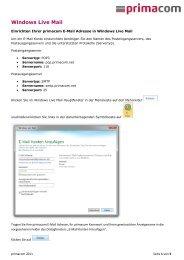 Windows Live Mail - Primacom