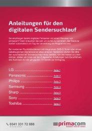 Anleitungen Sendersuchlauf - Primacom