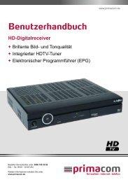 Anleitung HD-Digitalreceiver - Primacom