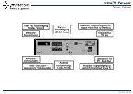 primaTV Decoder Inbetriebnahme - Primacom