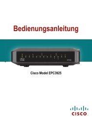 Anleitung WLAN-Modem Cisco EPC 3925 Stand - Primacom