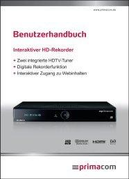 Anleitung Interaktiver HD-Rekorder - Primacom