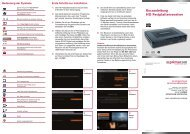 Kurzanleitung HD-Festplattenreceiver - Primacom