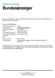 Bundesanzeiger - Primacom